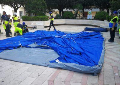 Montaggio Tenda Protezione Civile